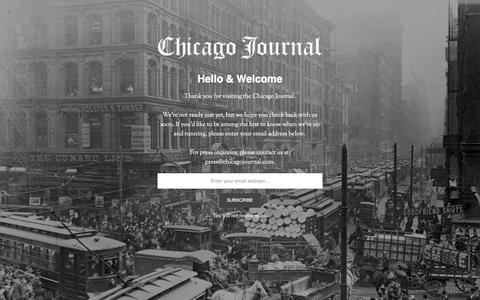 Chicago Journal | Coming Soon