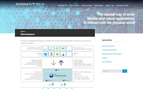 Screenshot of Developers Page domaticasolutions.com - Developers - Domatica Solutions - captured Feb. 9, 2016