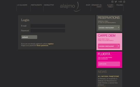Screenshot of Login Page alajmo.it - Login - captured Feb. 15, 2016