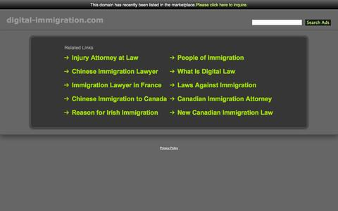 Screenshot of Home Page digital-immigration.com - Digital-Immigration.com - captured Sept. 30, 2014