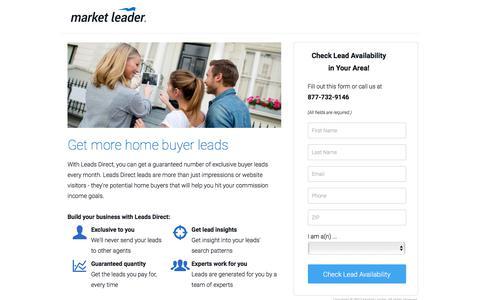 Screenshot of Landing Page marketleader.com - Get More Buyer Leads With Leads Direct - captured Oct. 21, 2017