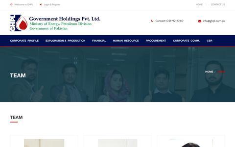 Screenshot of Team Page ghpl.com.pk - TEAM - captured Sept. 25, 2018