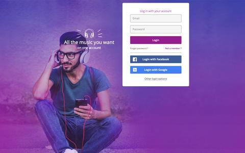 Screenshot of Login Page anghami.com - Login/SignUp - captured Nov. 19, 2018