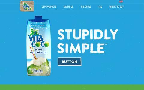 Screenshot of Home Page vitacoco.com - Vita Coco | Welcome to Vita Coco - captured Oct. 6, 2015
