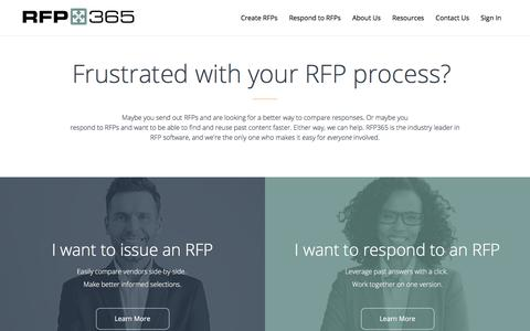 RFP365 | Reinventing the RFP Process