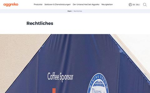 Screenshot of Terms Page aggreko.com - Rechtliches | Aggreko - captured Oct. 7, 2017