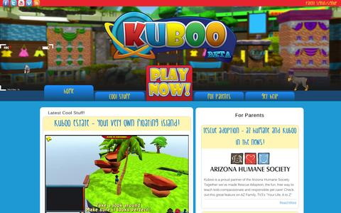 Screenshot of Home Page kuboo.com - Kuboo - captured Aug. 11, 2015