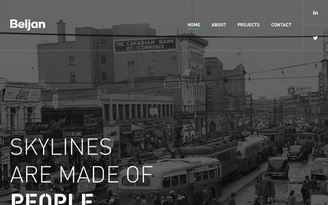 Screenshot of Home Page beljandevelopment.com - Beljan Development - captured Feb. 8, 2016