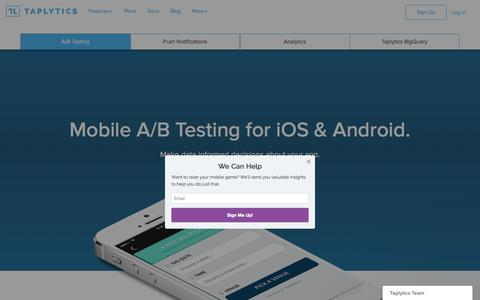 Mobile A/B Testing | Taplytics