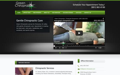 Temecula Chiropractor | Serving the Temecula Valley | Green Chiropractic | Active Care for Active Families