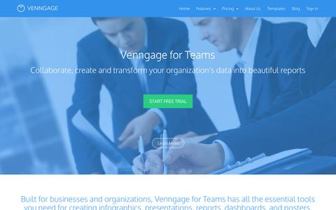Screenshot of Team Page venngage.com - Team - Venngage - captured Dec. 16, 2014