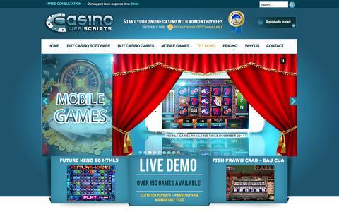 Screenshot of Blog casinowebscripts.com - CasinoWebScripts Blog : Casino Software News, Updates and Guides - captured Nov. 14, 2015
