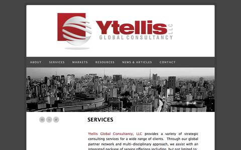 Screenshot of Services Page ytellisglobalconsultancy.com - Ytellis Global Consultancy, LLC | Services - captured Oct. 27, 2014