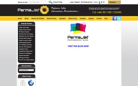 Screenshot of Blog permajet.com - PermaJet   The Imaging Warehouse - captured Dec. 8, 2015