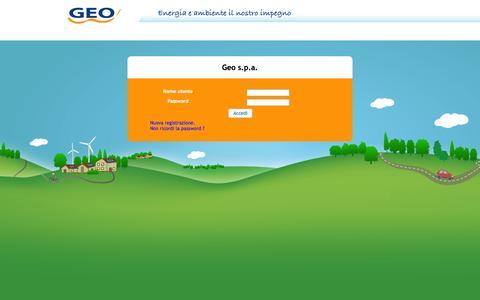 Screenshot of Login Page geometanospa.it - Portale clienti - Geo - captured Oct. 2, 2014