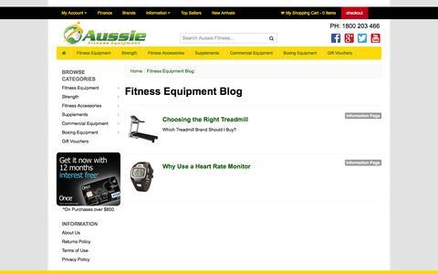 Screenshot of Blog aussiefitness.com.au - Aussie Fitness Company Blog - captured Oct. 4, 2014