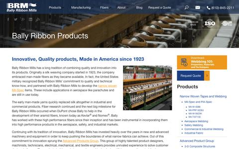 Screenshot of Products Page ballyribbon.com - Bally Ribbon Products | Bally Ribbon Mills - captured Nov. 22, 2016