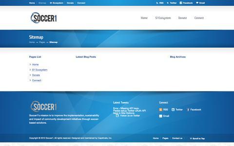 Screenshot of Site Map Page soccer1.org - Sitemap | Soccer1 - captured Sept. 30, 2014
