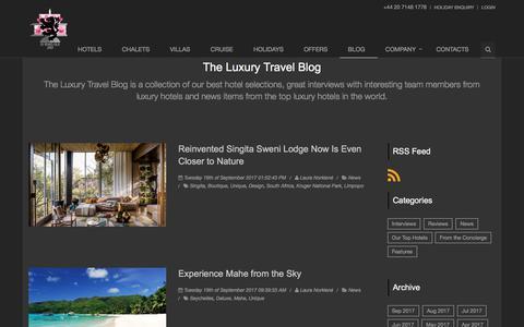 Screenshot of Blog hurlinghamtravel.co.uk - The Luxury Travel Blog - Page 1                      | Hurlingham Travel Blog - captured Sept. 19, 2017