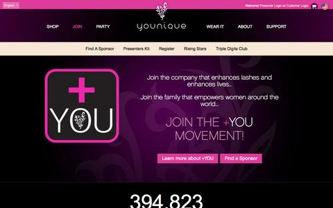 Screenshot of Signup Page youniqueproducts.com - Join  Younique - captured Aug. 2, 2015
