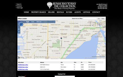 Screenshot of Contact Page Maps & Directions Page tampabaytobay.com - REMAX Bay to Bay - Contact Us - Tampa - Palm Harbor Realtors - captured Oct. 26, 2014