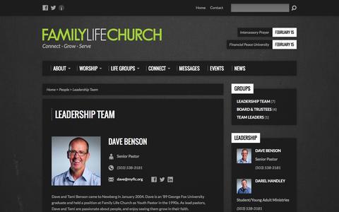 Screenshot of Team Page myflc.org - Leadership Team - Family Life Church - captured Feb. 9, 2016