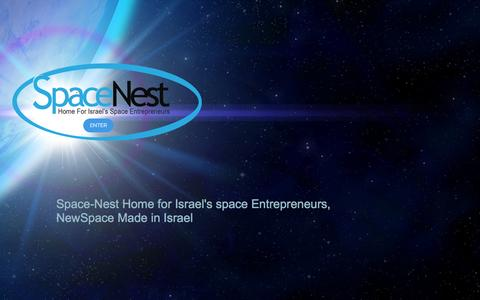 Screenshot of Home Page space-nest.com - Space-Nest Home for Israel's space Entrepreneurs, NewSpace - captured Jan. 16, 2017
