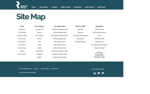 Screenshot of Site Map Page working-for-rethink.com - Working for Rethink Group | Sitemap - captured Jan. 24, 2017