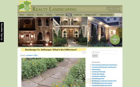 Screenshot of Blog realtylandscaping.com - Realty Landscaping | Blog - captured Oct. 20, 2018
