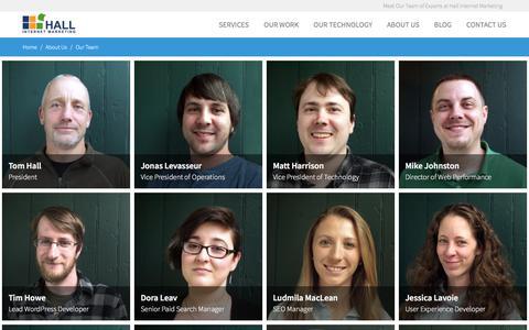 Screenshot of Team Page hallme.com - Internet Marketing Experts - Meet Our Team at Hall - captured June 21, 2017