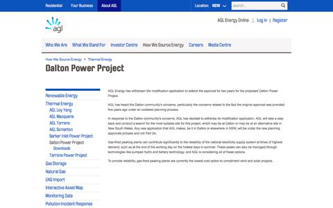 Dalton Power Thermal Energy Project | AGL
