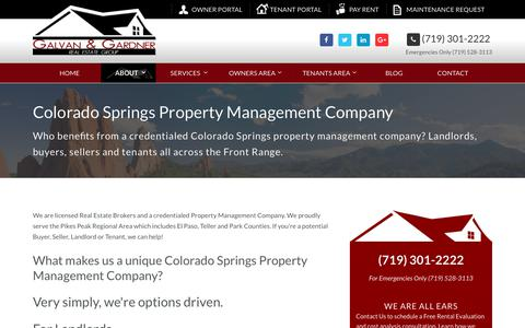 Screenshot of About Page galvanandgardner.com - Colorado Springs Property Management Company - captured July 17, 2017