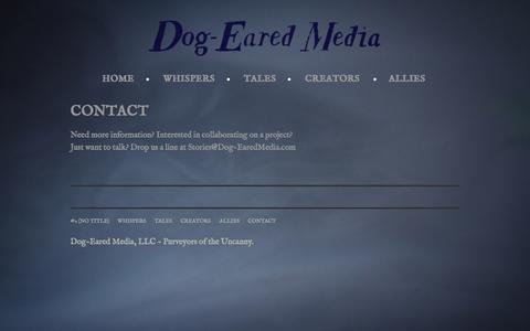 Screenshot of Contact Page dog-earedmedia.com - Contact   Dog-Eared Media - captured Oct. 5, 2014
