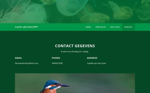 Screenshot of Contact Page dtpublishing.nl - Contact - FLEUR WESTENDORP - captured Aug. 5, 2018