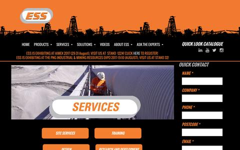 Screenshot of Services Page esseng.com.au - Engineering Services | Australia | ESS Engineering Services & Supplies | ESS Engineering - captured July 11, 2017
