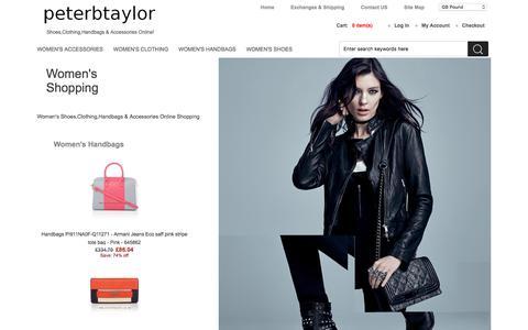 Screenshot of Home Page peterbtaylor.co.uk - Women's Shoes,Clothing,Handbags & Accessories Online Shopping | boots,heels,ballet pumps,jackets,coats,dresses,playsuits,tops,handbags,sunglasses - captured Dec. 1, 2016