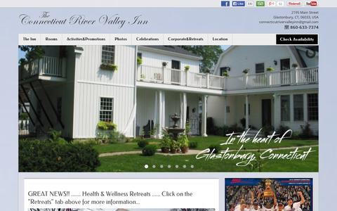 Screenshot of Home Page connecticutrivervalleyinn.com - The Connecticut River Valley Inn - Glastonbury - USA - captured Oct. 6, 2014