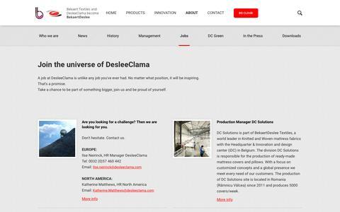 Screenshot of Jobs Page desleeclama.com - Deslee Clama | Jobs - captured Aug. 1, 2016