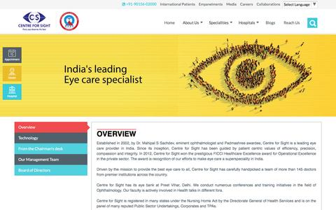 Screenshot of About Page centreforsight.net - Centre For Sight - About Us - Largest Eye Hospital Network - captured March 2, 2017