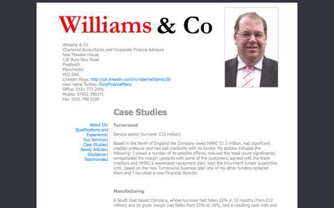 Screenshot of Case Studies Page corporatefinance.org.uk - Case Studies - captured Oct. 26, 2014
