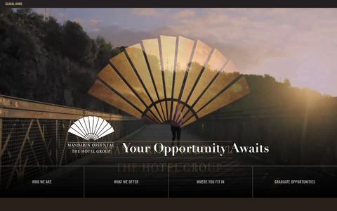 Screenshot of Jobs Page mandarinoriental.com - Careers Homepage - captured Feb. 14, 2018