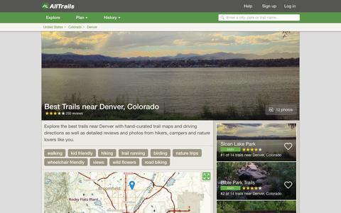 Screenshot of alltrails.com - Best Trails near Denver, Colorado  | AllTrails.com - captured March 5, 2017