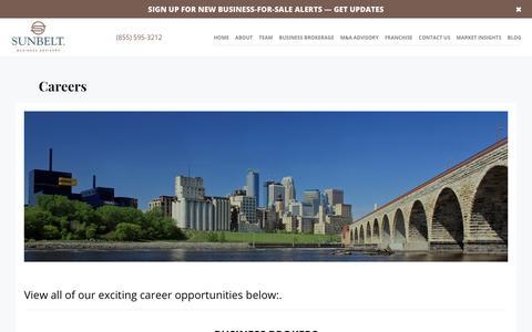 Screenshot of Jobs Page sunbeltmidwest.com - Career Opportunities with Sunbelt - Sunbelt Midwest Blog - captured Sept. 20, 2019