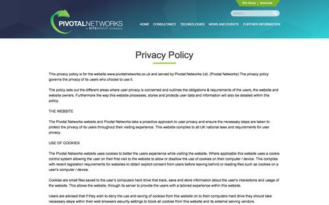 Screenshot of Privacy Page pivotalnetworks.co.uk - Privacy Policy | Pivotal Networks - captured Aug. 4, 2017