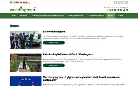 Screenshot of Press Page weedingtech.com - News | Weedingtech - captured Feb. 4, 2018