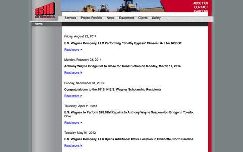 Screenshot of Press Page eswagner.com - ES Wagner's News - captured Oct. 1, 2014