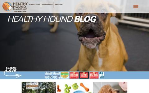 Screenshot of Blog healthyhoundplayground.com - Blog - captured July 18, 2018