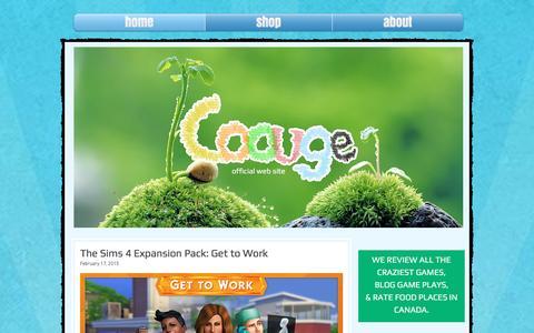 Screenshot of Home Page coouge.com - Coouge - captured Dec. 12, 2015