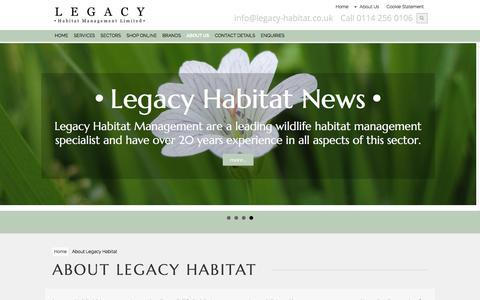 Screenshot of About Page legacy-habitat.co.uk - About Legacy Habitat Management - captured Jan. 27, 2016