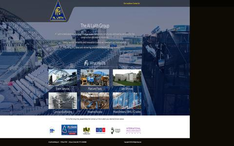 Screenshot of Home Page allaith.com - Al Laith Scaffolding LLC � - captured Dec. 24, 2015